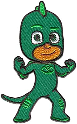 Parches - PJ MASKS Héroes en pijamas GEKKO 1 Disney - verde - 5,0 x 8,0 cm - by catch-the-patch termoadhesivos bordados aplique para ropa