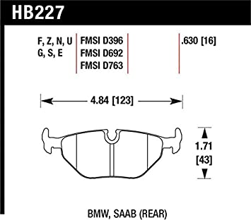 Rear Hawk Performance HB145G.570 Disc Brake Pad