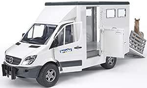 Bruder MB Sprinter Animal Transporter with 1 Horse Toy Vehicle