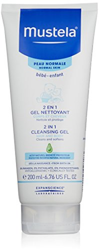 Mustela 2-in-1 Cleansing Gel for Hair and Body, 6.7 oz.