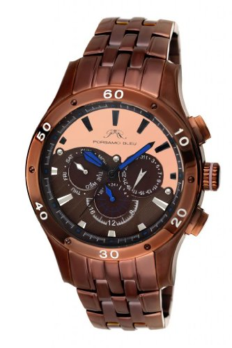 Porsamo Bleu Andre Stainless Steel Dark Brown & Rose Tone Men's Watch 222EANS