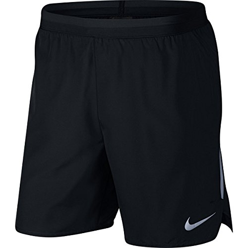 "NIKE Distance Men's 7"" Unlined Running Shorts (Black, Large)"