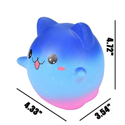 Cartoon Galaxy Kitty - Franterd Stress Reliever Kawaii Toy - Scented Slow Rising Squishy Simulation Gift - Kids &Adults Decompression Squeeze Toys - Educational Hop Decorative Props Toys by Franterd Toys (Image #7)