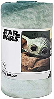 Star Wars Mandalorian Baby Yoda The Face Throw Blanket