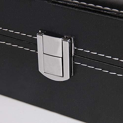 Organizer TongN Scatola portaoggetti for Display for Orologio, Parte Superiore in Vetro, può ospitare 6 Cuciture Colore Orologio