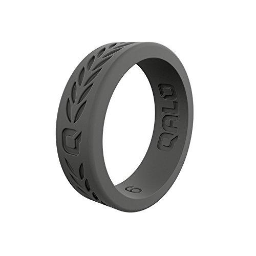 安価 QALO-レディースシリコンリング(品質は、陸上競技、愛とアウトドア)は7-18のサイズを B0716KH8VV Q2X 6 Charcoal Grey Q2X Laurel - - Silicone Ring 6 6|Q2X Charcoal Grey Laurel - Silicone Ring, ケースペックオンライン:6666c1fa --- arianechie.dominiotemporario.com