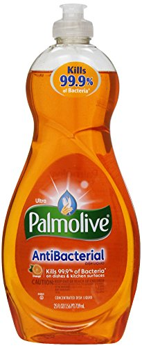 Palmolive Ultra Antibacterial Orange Dish Liquid, 25-Ounce (Pack of 3) ()