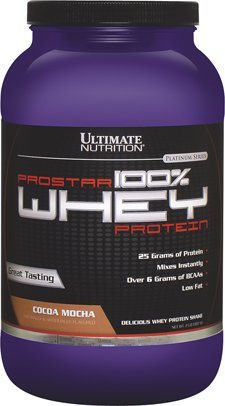 Ultimate Nutrition Prostar 100% Whey Protein, Cocoa Mocha, 2 Pound For Sale