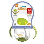 Lansinoh mOmma Straw Cup with Dual Handles, Green, Safe and Hygienic, for 12 Months and Older, Spill Proof Technology, No Hassle Cleaning, BPA Free