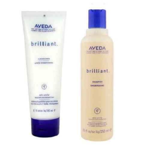 - Aveda Brilliant Shampoo 8.5 oz & Conditoner 6.7 oz Duo Set