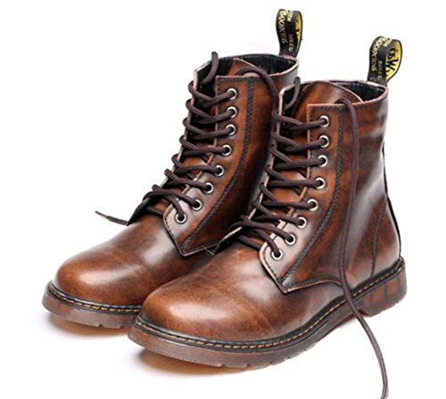 Extra Botines De Boots Brown Invierno E Shiney Martin Otoño Cuero Tamaño Grande Hombre Para HEqx50w