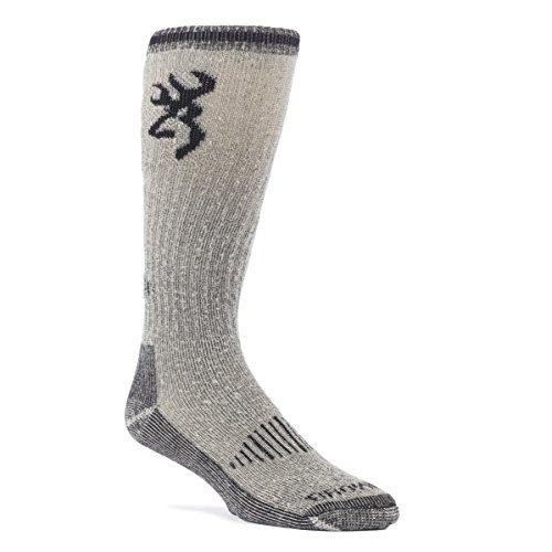 Browning Men's Heavyweight Merino Wool Blend Hunt Socks (Black, Single Pair)