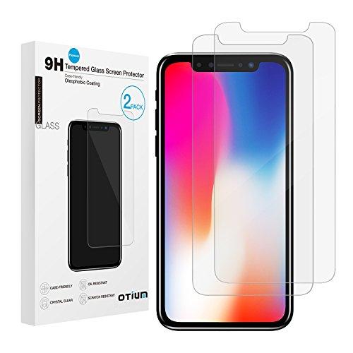 iPhone X Screen Protector [2-Pack], Otium iPhone X Tempered Glass Screen Protector for Apple iPhone X/iPhone 10 2017