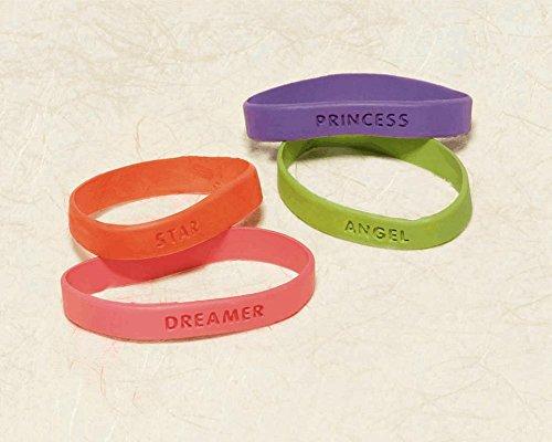 "Amscan Colorful Attitude Wristband/Bracelet Costume Party Accessory Favor & Prize Set, 2.5"" X 2.5"", Multicolor"