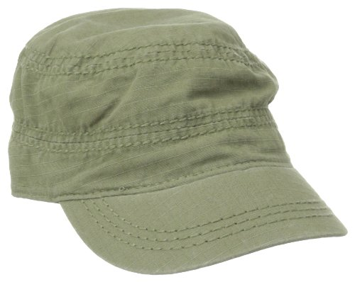 Life is good Women's Ripstop Campout Cadet Cap, Dark Olive Green, One Size