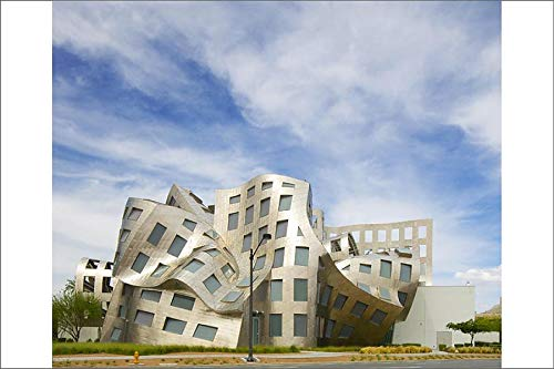 Media Storehouse 12x8 Print of USA, Nevada, Las Vegas. View of Cleveland Clinic Lou Ruvo Center for Brain (12634569) (Lou Ruvo Center For Brain Health Architecture)