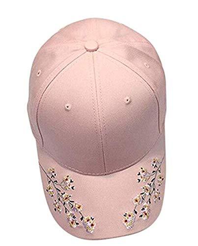 Nearzstorn Baseball Hat,Women Embroidered Baseball Cap New Summer Snapback Caps Hip Hop Hats 2019 (Pink)
