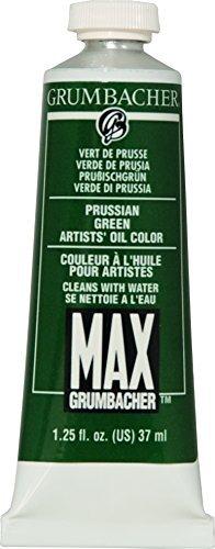 Grumbacher Max Water Miscible Oil Paint, 37ml/1.25 oz, Prussian ()