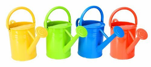 Painted Watering Can (Panacea 84830 Metal Traditional Painted Watering Can, 4-Liter or 1-Gallon, Colors may Vary Color: Basic Colors, Model: 84830, Home & Garden)
