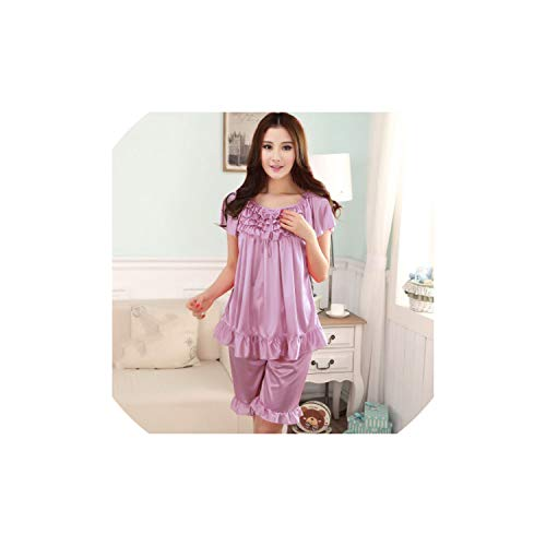ad5969c5a7 Brittany-Breanna Nightwear Pyjamas Women 2019 Spring and Summer Pajamas  Shorts Suit Large Size Three
