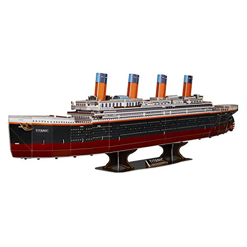WISESTAR 32.2 L Large Titanic 3D Puzzles Model for Adults and Kids, 116PCS Sinking Cruise Boat Ship Play Model Game Toy Craft Kits, Educational Toy Birthday Gift for Boys Girls