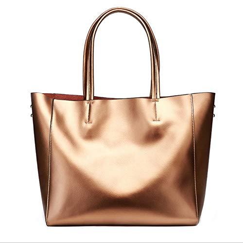à PU Sac Grande Décontracté à Simple Shopping Main Bronze Sac Dames Bandoulière Sauvage à Capacité Main Sac Sac Mode SgxnpRR