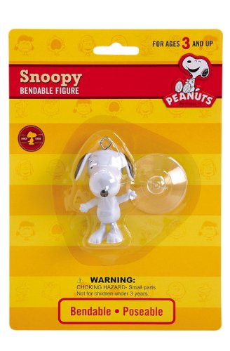 Snoopy Bendable Figure (Peanuts - Snoopy Bendable Figure with Suction Cup)