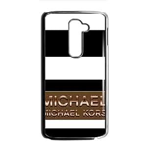Michael kors Black and white stripes Plasitc Hard Skin Protective Cover Cellphone Back Case for LG G2 black