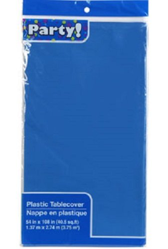 BLUE Pack of 2 Disposable Tablecoths, 54x108' - 108' Tablecloth