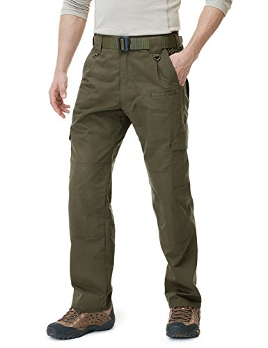 CQR CQ-TLP104-TDR_38W/34L Men's Tactical Pants Lightweight EDC Assault Cargo TLP104