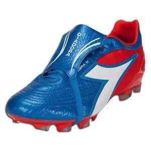 Diadora Men's Kobra K BX 14 Soccer Cleat,Camine Red/Azure Blue,11.5  M US