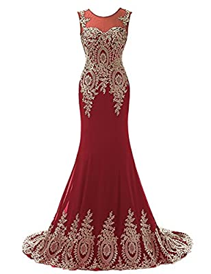 Clearbridal Women's Prom Homecoming Dresses 2017 Evening Gowns Elegant Party Ball Gown
