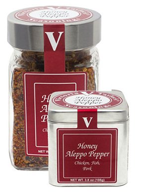 Honey Aleppo Pepper - 6.8 oz Jar. - Victoria Gourmet Spices and Seasoning - Recommended for chicken, fish, pork, and potato ()