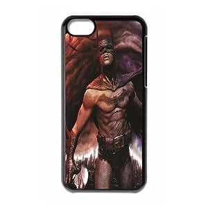 Black 2d Cartoon Hero Batman Soft Silicone Back Case Cover Skin For Iphone 5c RVNLI_W468742