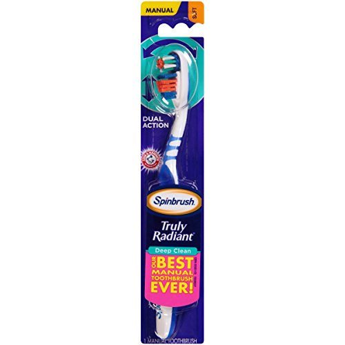Arm & Hammer Truly Radiant Manual Soft Bristle Spinbrush Assorted Colors ()