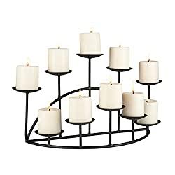 Southern Enterprises 10 Candle Candelabra Black