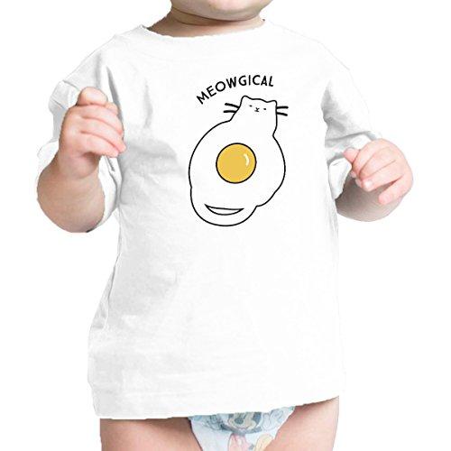 Tee Body Printing One Size Fried Manches Mois 24 And Cat Bébé garçon 365 À Egg Courtes Infant 0 Meowgical U5qvHwWdx