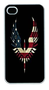IMARTCASE iPhone 4S Case, Usa Flag Design Independance Day Polycarbonate Back Case for Apple iPhone 4S/5 White