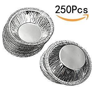 Goege 250 Pcs Disposable Aluminum Foil Cups Baking Bake Muffin Cupcake Tin Mold Round Egg Tart Tins Mold Mould (Tin Mold)
