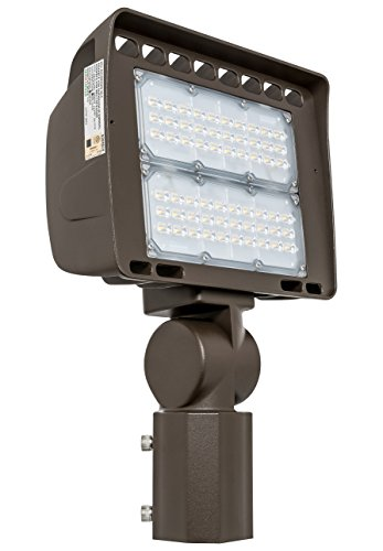 Cheap Westgate Lighting Outdoor LED Flood Light Fixture Slip Fitter Mount – Shoebox Street Area Parking Pole Security Floodlights – 120-277V – IP65 Waterproof UL Listed (80 Watt, 3000K Warm White)