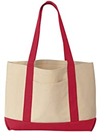8869 UltraClub Unisex Canvas Boat Tote Bag
