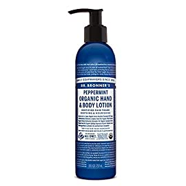 Dr. Bronner's - Organic Lotion (8 Ounce) - Body Lotion and Moisturizer, Certified Organic, Soothing for Hands, Face and… 19 USDA ORGANIC & FAIR TRADE INGREDIENTS: Dr. Bronner's Organic Lotions are formulated with organic jojoba oil to heal & soothe, organic coconut oil to moisturize, organic hemp & avocado oils to keep skin smooth & supple. OK! ONLY THE PUREST, ORGANIC ESSENTIAL OILS & INGREDIENTS: Dr. Bronner's is committed to providing the purest ingredients for our customers. That's why only the finest organic essential oils are used for fragrance—breathe deeply! GENTLE ENOUGH FOR MOST SKIN TYPES: Great for sensitive, dry, rough, or combination skin! Our Organic Lotions can be used on hands, face, body & everywhere! Give your skin a treat with this rich, nourishing lotion—massage deeply!