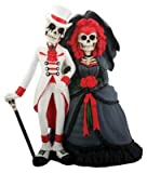 Skeleton Dod Gothic Wedding Couple Figurine Decoration Collectible