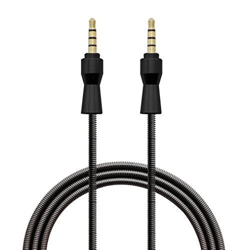 Price comparison product image AUX Cable,Sunfei 3.5mm Jack Elbow Male to Male Stereo Headphone Car Aux Audio Extension Cable (Black)