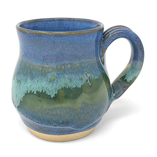 Mosquito Mud Pottery Classic Coffee Mug, Blue (Classic Coffee Mug)