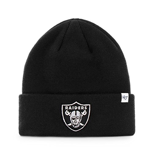 - NFL Detroit Lions '47 Raised Cuff Knit Hat, Black, One Size