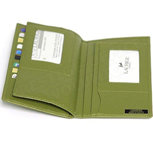 Portefeuille Beaubourg documents cuir Vert Volumica anis 1wBq660