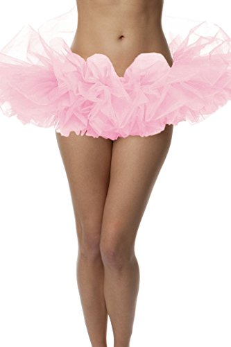 Adult Poofy Ballet Style Tutu for Halloween Costume,Princess Tutu, Ballet Tutu,Dance Outfit, or Fun Run Light Pink