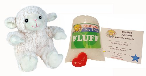 Make Your Own Stuffed Animal Mini 8 Inch Puffy Lamb Kit - No Sewing Required!