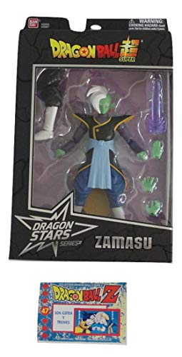 Dragon Ball Super Dragon Stars Series 4 Zamasu Figure Bundle with 1 Dragon Ball Z Trading Card (Dragon Ball Super Card Game Vegito Blue)